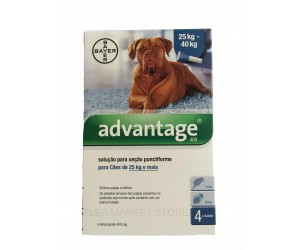 Bayer Advantage 400 for dog  25 kg - 40 kg (55 lb - 88 lb)